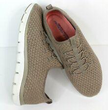 Skechers Memory Foam Dual-Lite Slip On Taupe Pink Sneaker Shoe Size 8 NWOT