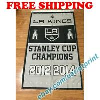 Los Angeles Kings Stanley Cup Champions Flag Banner 3x5 ft 2021 NHL Hockey NEW
