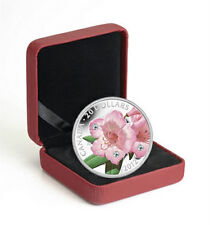 2012 Canada 1 oz Fine Silver Coin Rhododendron with Swarovski Crystal, No Tax