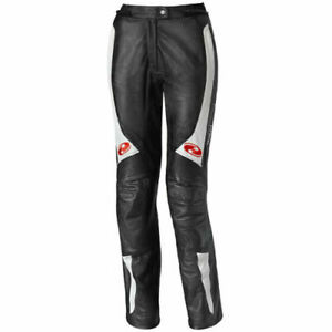 Held Ladies Sarana Leather Motorcycle Motorbike Pants Jeans D3O - Black / White