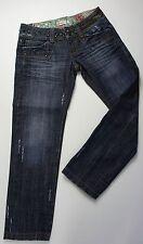 Fracomina * 7/8 Jeans Caprihose * Schwarze Nieten * Bling Bling Steine * Gr S/M