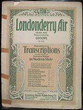 Piano Sheet Music Londonderry Air Irish Grooms Century Edition Advanced 1928