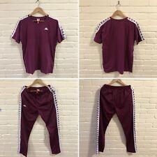 Kappa Cole Pantalones Cortos Rojo y Blanco-Retro Pantalones cortos de fútbol con grabando en las piernas