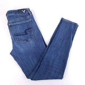 American Eagle Womens 6 Reg (27 x 27) High Rise Jegging 360 Super Stretch Jeans
