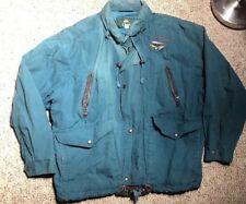 Mens Orvis Fly Fishing Safari Jacket Leather Trimmed Hunting Coat M/L