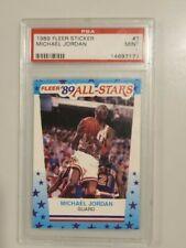 1989 FLEER STICKER BASKETBALL #3 MICHAEL JORDAN PSA 9 MINT