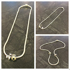 PANDORA Halsketten und Anhänger aus echtem Edelmetall ohne Steine für Damen