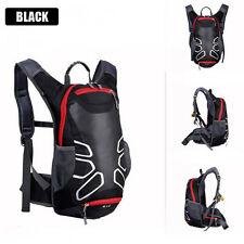 15L Bike Bicycle Hydration Pack Shoulder Backpack Water Bag Cycle Hiking Black