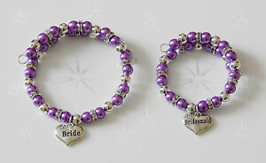 PEARL & SILVER  BRACELET WITH FAMILY MEMBER CHARM SMALL CHILD TO ADULT GIFT