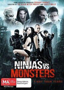 Ninjas Vs Monsters DVD - Horror - Brand New - Region 4