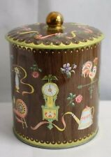Vintage Tin Canister Designed by Daher Long Island NY Made In England