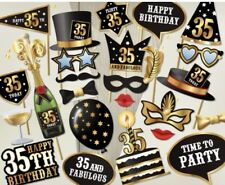 35th birthday photo props party decoration ready made kit celebration occasion