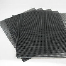 "5 Sheets Black Plastic Drainage Mesh For Bonsai Pot - 10.5""x 13.5"""