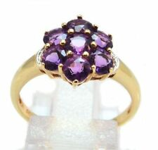 Amethyst Yellow Gold Fine Rings