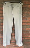Nike The Athletic Dept Gray Pants Size Medium Workout Gym Bottoms Stripe Retro