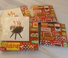 4 Packages of Grill & Chill Summer Party Napkins Serviettes - Picnic BBQ Cookout