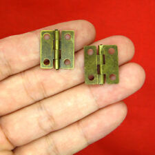 "10pcs 0.7"" Small Corner Draw Door Hinges Miniatures Dollhouse Fixture Fittings"