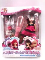 "Takara TOMY 9"" Doll Japan Licca Chan Hair Changing color PlaySet Red Dress NRFB"