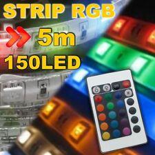 24816# KIT Strip LED RGB 5050  150 LED 5m télécommande 24t + alimentation