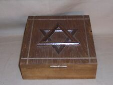 Vintage Wood Music - Jewelery Box - Star of David -