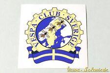 """Dekor Aufkleber """"Vespa Club Sverige"""" - Schweden Sweden V50 PK PX GL Sticker Klub"""