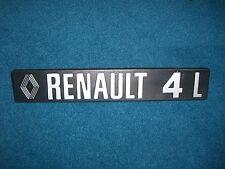 Emblem / Badge Renault 4 L, ca. 20,5 x 3,5 cm, 2 Befestigungsstifte Pins