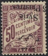 SYRIA 1924 POSTAGE DUE 3 pi. INVENTES ON 50¢ S.G. D178ab UNLISTED RARE HINGED
