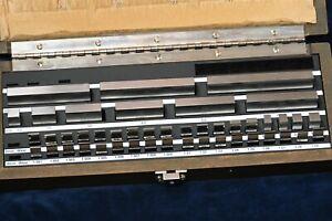 New Starrett Webber Steel Gauge Block Set Metric 45pc Model R S 45M