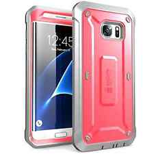Samsung Galaxy S7 Edge Full-body Rugged Holster Case Unicorn Beetle Cover Pink