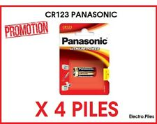 PROMO  !!Lot de 4 piles spéciales photos CR123 lithium Panasonic