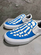 Falection 20SS CALIFORNIA AMIRIMIKE SKEL TOE LEATHER SLIP ON SNEAKERS BLUE