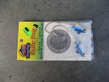 BAGLEY SALTY DOG SHAD HEAD JIG 1 OZ 7/0 HOOK FAST FREE SHIPPING BLUE