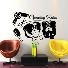 Wall Decals Grooming Salon Decal Vinyl Sticker Pet Shop Bedroom Dog Art  MN532