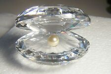 Retired Large Swarovski Shell With Pearl Article 7624 Nr55 In Original Gray Box