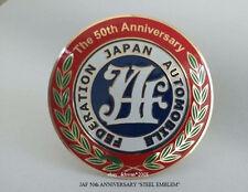 JAF 50TH ANNIVERSARY STEEL EMBLEM JAPAN JDM DATSUN TOYOTA MAZDA HONDA
