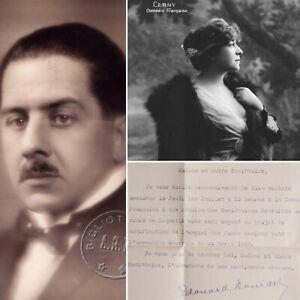 🌓 Édouard BOURDET (1887-1945) Lettre signée à la comédienne Berthe CERNY 1937