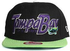 New Era 9Fifty Tampa Bay Devil Rays Black Purple & Green Strapback Baseball Hat