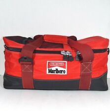 Vintage 90s Marlboro Spell Out Handled Insulated Cooler Boat Bag Red Nylon