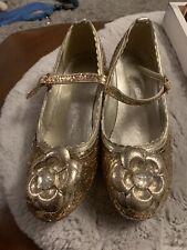 Disney Store Sparkle / Sequins Dress Up Princess Shoes . Small Heel  Size 33/1