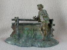 """ANTIQUE CONTINENTAL AUSTRIAN COLD PAINTED BRONZE SPELTER FIGURE """"MAN OF TYROL"""""""