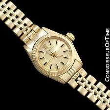 ROLEX Ladies Oyster Perpetual 14K Gold Watch - Mint with Warranty Serv. by Rolex
