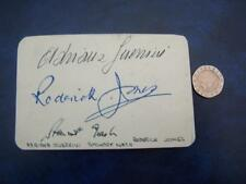 Adriana Guerrini ,  Roderick Jones , Stewart Nash  Autograph - please read below