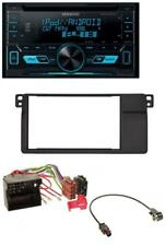 KENWOOD 2din USB AUX mp3 CD AUTORADIO PER BMW 3er e46 Quadlock grande navi