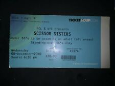 Scissor sisters X 2010 CONCERT TOUR TICKET USED POP MUSIC