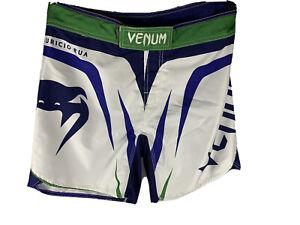 Rare Venum Shogun Rua UFC Edition Fight Night 26 Shorts (Ice) VG