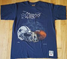 Vintage 1994 DALLAS COWBOYS shirt M Nutmeg silver blue Troy Aikman 90s helmet