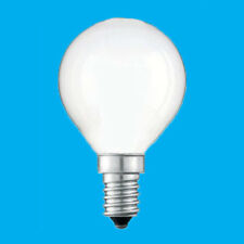 12x 40W Opal Dimmable Golf Light Bulbs 2000 Hours, Small Screw, SES E14, Lamps
