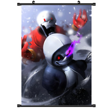 Anime Undertale Sans Wall Poster Scroll cosplay  40X60CM FDGF