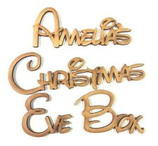 PERSONALISED DISNEY CHRISTMAS EVE BOX PLAQUE ANY NAME(S) sign craft art word box