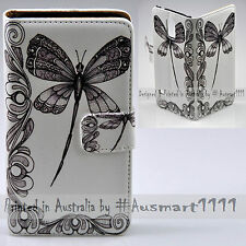 For Lumia 950XL 950 650 640 - Dragonfly Print Flip Wallet Phone Case Cover